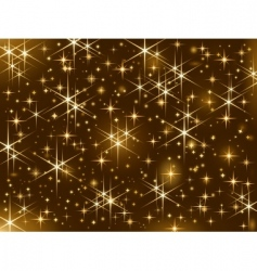 shiny christmas stars vector image vector image