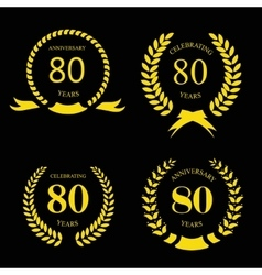 80 eighty years icon Template for celebration and vector image vector image
