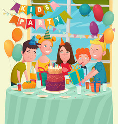 b-day party children composition vector image vector image