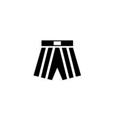boxing shorts flat icon vector image