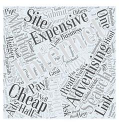 BW internet advertising methods expensive vs cheap vector image