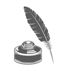 Feather pen and ink vector image vector image