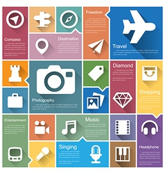 Flat design interface icon set 4 vector image