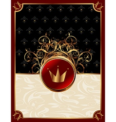 gold invitation frame vector image vector image