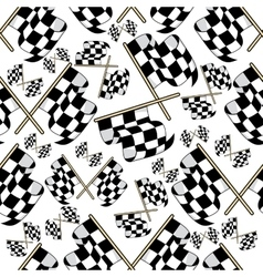 Seamless pattern of motor racing flags vector image vector image