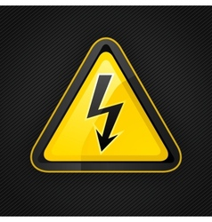 voltage warning sign vector image vector image