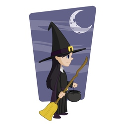 young halloween witch vector image vector image