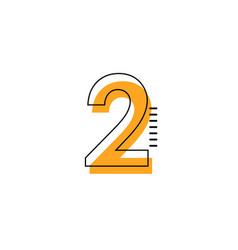 2 year anniversary template design vector