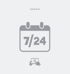 724 availability calendar - web icon vector image