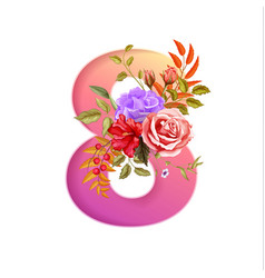 8 march international women day holiday flower vector
