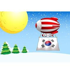 a balloon with flag south korea vector image