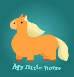 a Cute Little Horse vector image