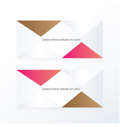 Abstract pyramid banner pink brown vector