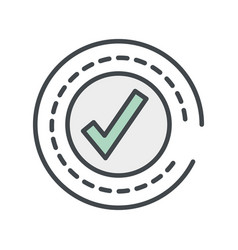Approved round symbol vector