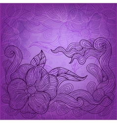 artistic doodle background vector image