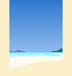 beautiful seascape azure sea and white sand vector image