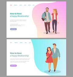 Boyfriend and girlfriend relationship love vector
