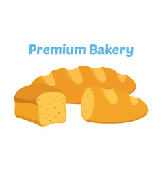 bread whole grain loaf cartoon flat style vector image
