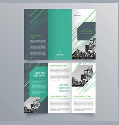 brochure design 398 vector image