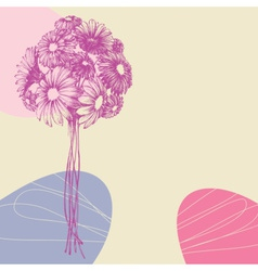 Bunch of flowers greeting card vector image