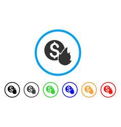 burn money rounded icon vector image