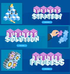 business banners set 03 vector image
