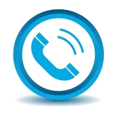 Calling icon blue 3D vector