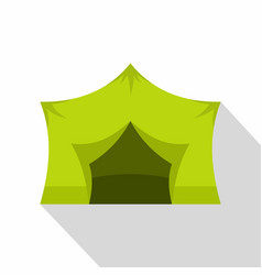 camping equipment icon flat style vector image