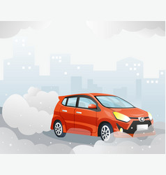 Car air pollution vector
