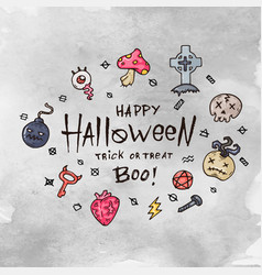 Cartoon halloween card vector
