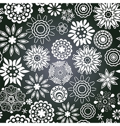 Chalkboard seamless floral pattern Copy that vector
