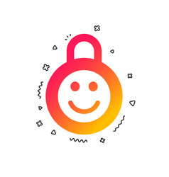 child lock icon locker with smile symbol vector image