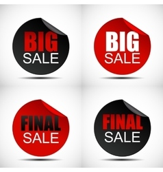 Circle Big Sale Label Set vector