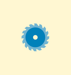 circle saw icon flat element vector image