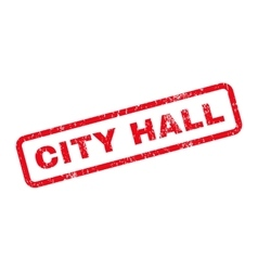 City hall text rubber stamp vector