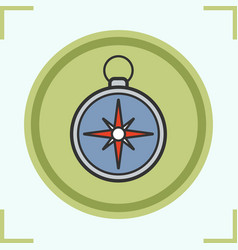 Compass color icon vector