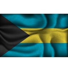crumpled flag bahamas on a light background vector image