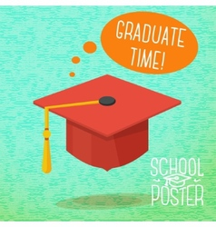 Cute school college university poster - graduation vector