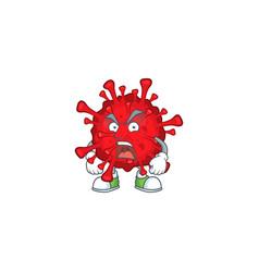 Dangerous coronaviruses mascot showing angry face vector
