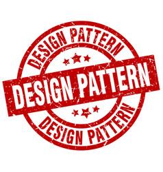Design pattern round red grunge stamp vector