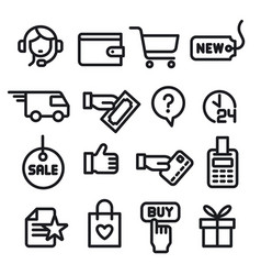 e-commerce shop icons vector image