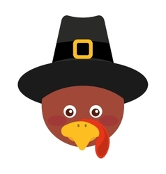 Easter turkey with hat vector