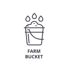 farm bucket line icon outline sign linear symbol vector image