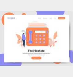 fax machine concept vector image