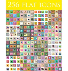 flat icons 14 vector image