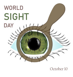 Flat of world sight day vector