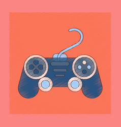 Flat shading style icon game joystick vector