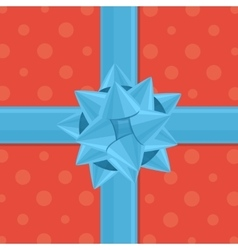 gift wrapping with bow vector image vector image