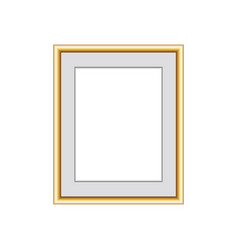 golden picture or photo frame isolated on grey vector image