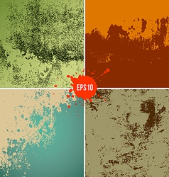 Grunge textures colorful background collections vector